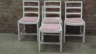 1940s Set Of 4 Painted Dining Chairs With The Utility Stamp