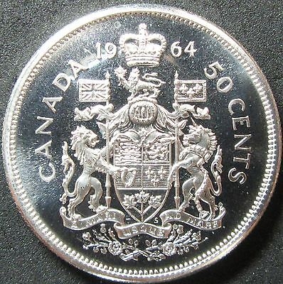 1964 Canada Proof Like Silver Fifty Cent Coin