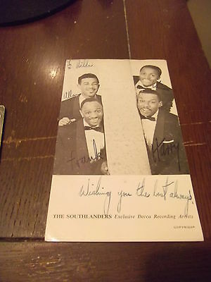 Vintage Music The Mole In A Hole THE SOUTHLANDERS hand signed photo