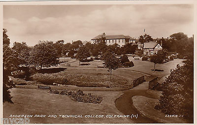 Postcard Coleraine County Londonderry Northern Ireland college Anderson Park RP