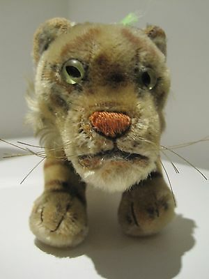 Steiff standing tiger with button ID C1950s-60s