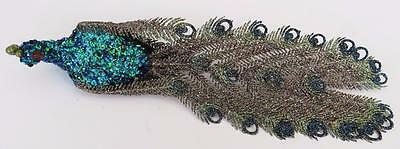 Exceptional Large Glitter Sequin Peacock Christmas Wedding Ornament Decoration