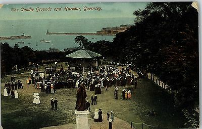 Postcard The Candie Grounds & Harbour Guernsey Channel Islands 1913