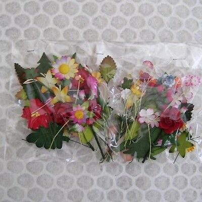 100 Mixed Mulberry Paper Flowers Leaves 1 Cm - 5 Cm