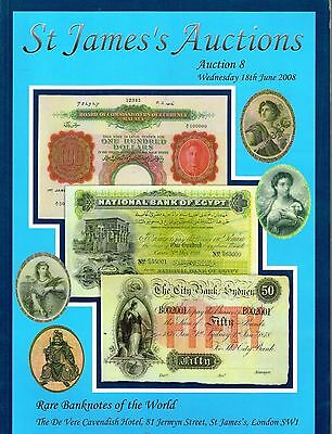 St. James's Auction Rare Banknotes Of The World Catalog Reference Book Rare