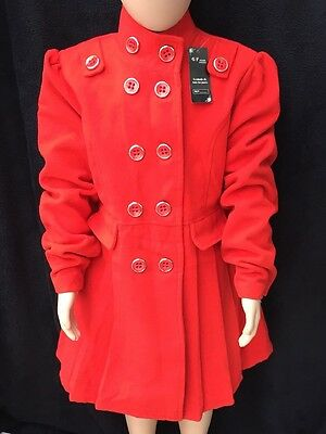 BNWT Girls Red Double Breasted Smart Coat By GF Mode (14 Yrs) **FREE UK P&P**