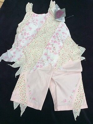 BNWT Girls 2 Piece Summer Floral Set By Chillifuego (2-3 Yrs) **FREE UK P&P**