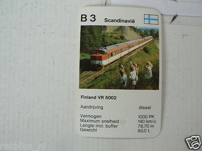 64-Loks Trein Train B3 Finland Vr 5002 Scandinavie