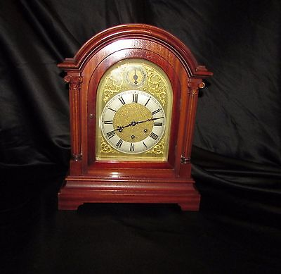Stunning cherry mahogany Gustav Becker Bracket / Mantle clock / Westminster chim