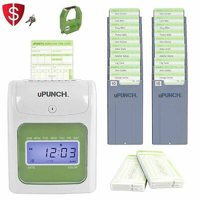 uPunch Electronic Time Punch Clock Digital Recorder Card Bundle HN3500