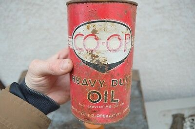 VTG CO-OP 1 Quart Oil Can Advertising Display Sign Rack Garage Car Ford Chevy