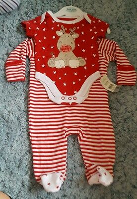 first size 0 months baby christmas sleepsuit vest unisex/girl/boy new unused