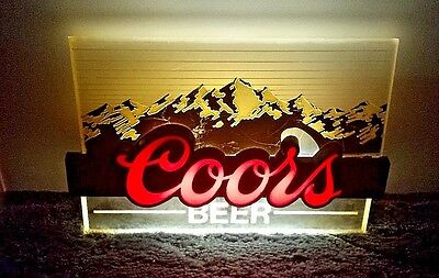 1986 Vintage Coors Beer Lighted Sign Free Shipping