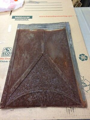 Lot of Antique Decorative Tin Metal Roof Panels Tiles Shingles