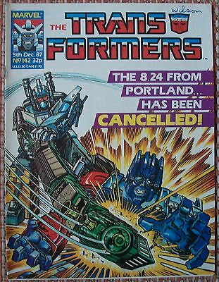 Transformers UK Comic Issue 142 December 87 Child's Play