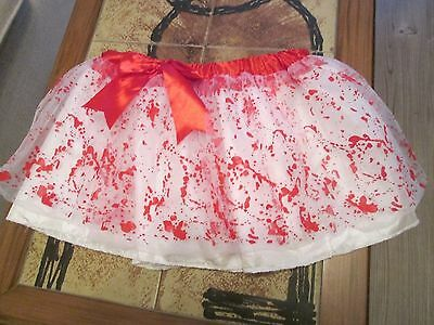 Girls Short  Skirt By Claire Netting In Red And White Small/medium New