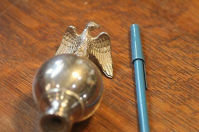 Antique Eagle Chrome Finial TOP for Clock, Bookcase, Secretary Furniture Maker