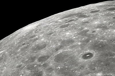 New 5x7 NASA Photo: Far Side of the Moon, Lunar Surface from Apollo 8 - 1968