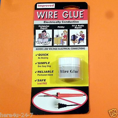 Wire Glue 9 ml Tub No Soldering Electrically Conductive Adhesive AP 0400 Anders