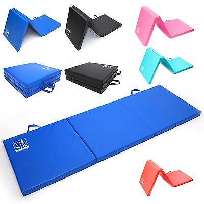 Tri Folding Exercise Thick Mat Yoga Gym Training Workout Fitness Foam Non Slip