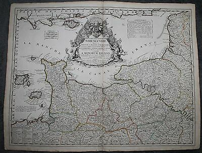 Original 1650 Map of Normandy France by Merian