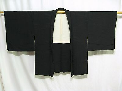 """Wholesale Haori - Plain Black Silk"" Vintage Japanese 20 Woman's Haori Jackets"