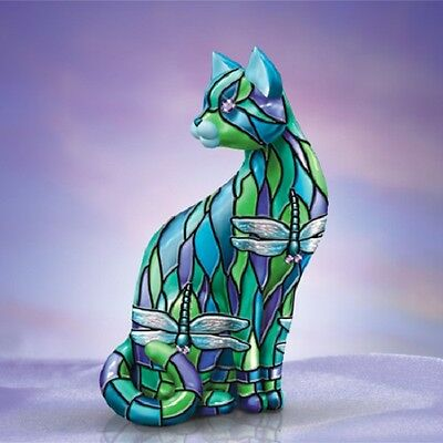 Dragonfly - Purr-Fect Relflections of Tiffany Cat Figurine