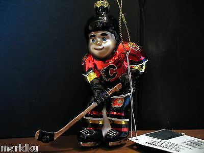 New Calgary Flames NHL hockey player  Stick christmas tree Holiday ornament