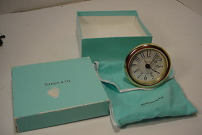 Small Tiffany Footed Shelf Clock with Box and Bag Parts