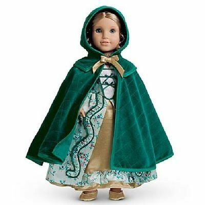 American Girl Doll Elizabeth's Green Quilted Holiday Cloak Cape BRAND NEW in Box