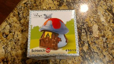 Smurfette Mushroom House Smurfs Blue Cottage Schleich Smurf Toy 49013