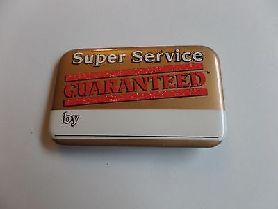 Vintage McDonalds Restaurant Super Service Guaranteed Employee Button Pin