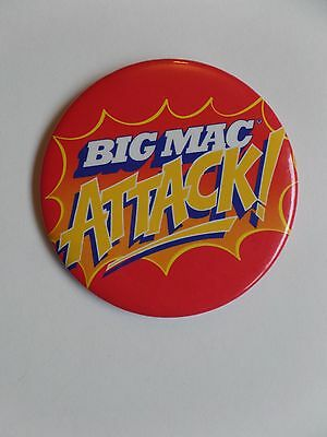 Vintage McDonalds Restaurant Employee Button Pin Big Mac Attack