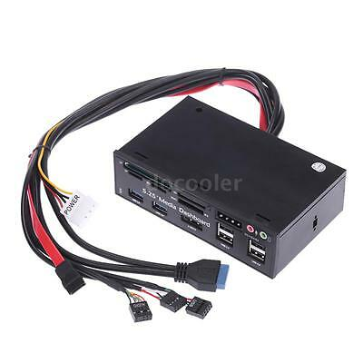USB 3.0 All-in-1 5.25 Muiti-function Media Dashboard Front Panel Card Read P9V9