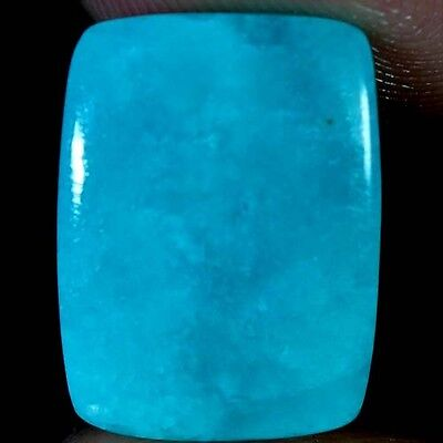 10.20Cts. 100% NATURAL ROYAL GREEN AMAZONITE CUSHION CABOCHON QUALITY GEMSTONES