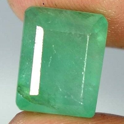 17.75Cts. 100% NATURAL GREEN FLUORITE OCTAGON CUT AFGHANISTAN PRECIOUS GEMSTONE