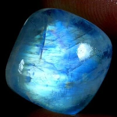 17.70Cts. 100% NATURAL EXCELLENT POWER RAINBOW MOONSTONE CUSHION CAB GEMSTONES