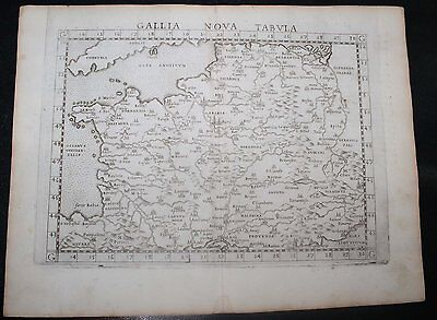 Original 1564 Map of France by Ruscelli