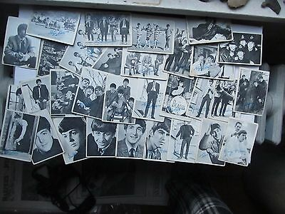 Nice Lg. Lot of 64 Early Vintage BEATLES Fan Collector Cards, 1964, Signed, Gift