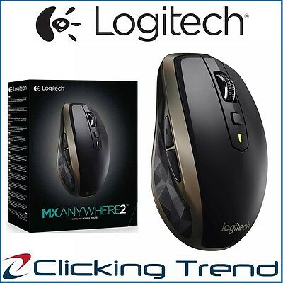 Bluetooth Wireless Mouse Logitech MX AnyWhere 2 Computer Laser Mice Rechargeable