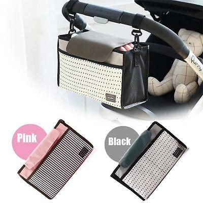 Korean Pram Stroller Organiser Bottle Nappy Buggy Holder Bag