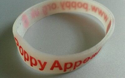 Royal British Legion Kids/Small Poppy Appeal Wristband