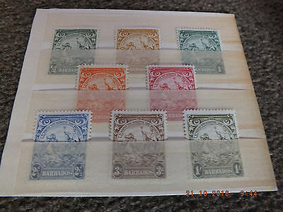 MNH, MVLH lot of Barbados badge of colony to 1/-.