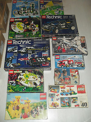 Lot Lego 200 Kg 280 Notices Referencees Star Wars,train,technics,vintage...