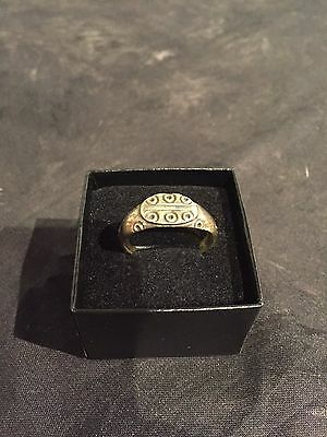 Ancient Byzantine Bronze Mens Ring 13-14 Century