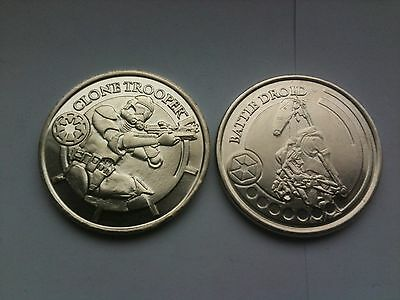 Set z 2 Star wars revenge of the sith coins