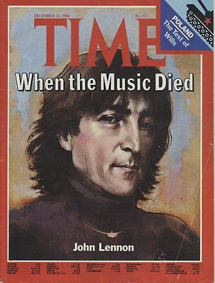 Time Magazine 1980 with John Lennon Cover: When The Music Died
