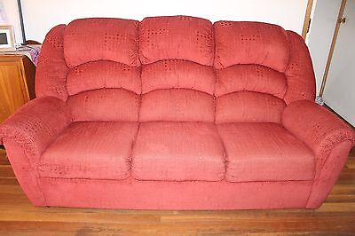 Lounge Suite - 3 seater couch & 2 armchair recliners