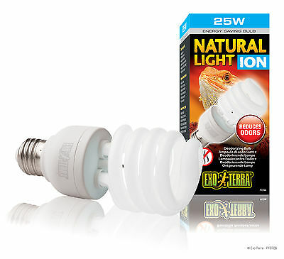 Exo Terra Natural Light Ion Terrarienlampe mit UV-A - Watt: 25w - E27 Fassung