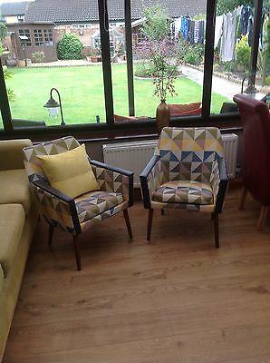 2 X Retro German Chairs And Sherbourn Stool (( 60'S )